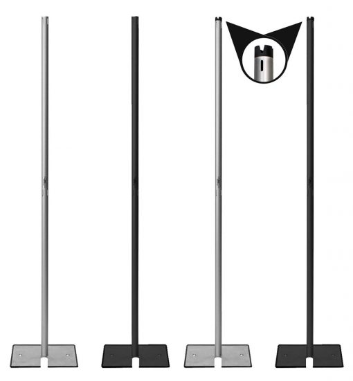 2 inch fixed height uprights